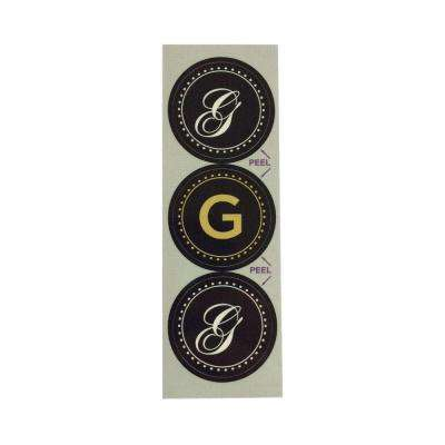 G Monogram Decorative Bathroom Sink Stopper Laminates (Set of 3)