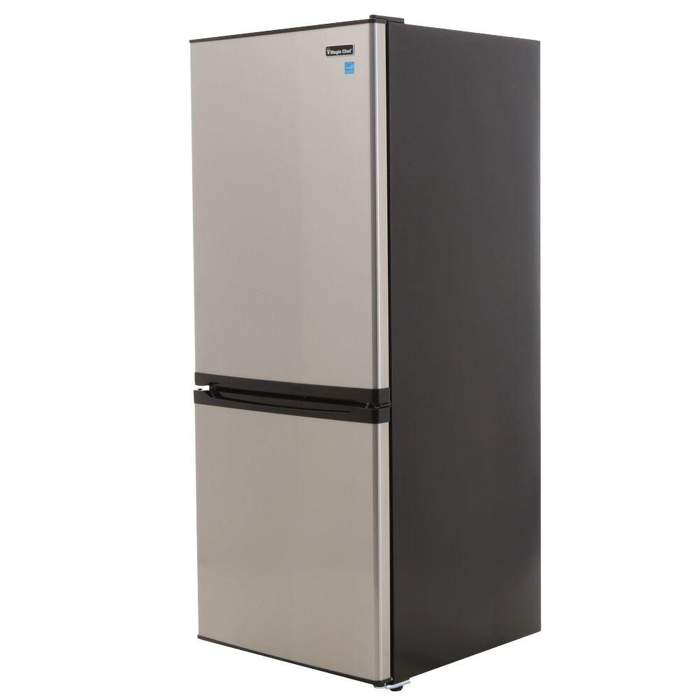 Magic Chef 9.2 cu. ft. Bottom Freezer Refrigerator in Stainless
