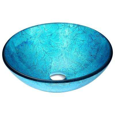 Accent Vessel Sink in Blue Ice