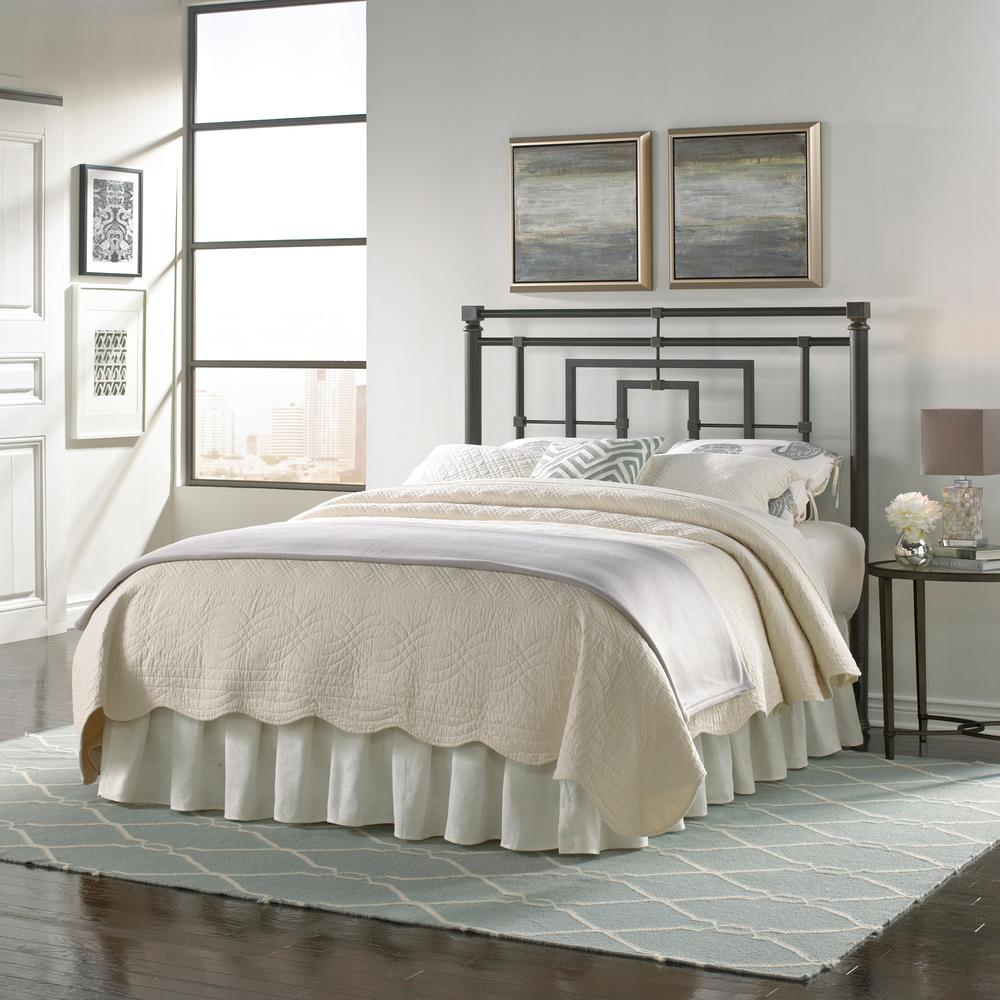 Fashion Bed Group Sheridan Full Size Metal Headboard With Squared Tubing And Geometric Design In