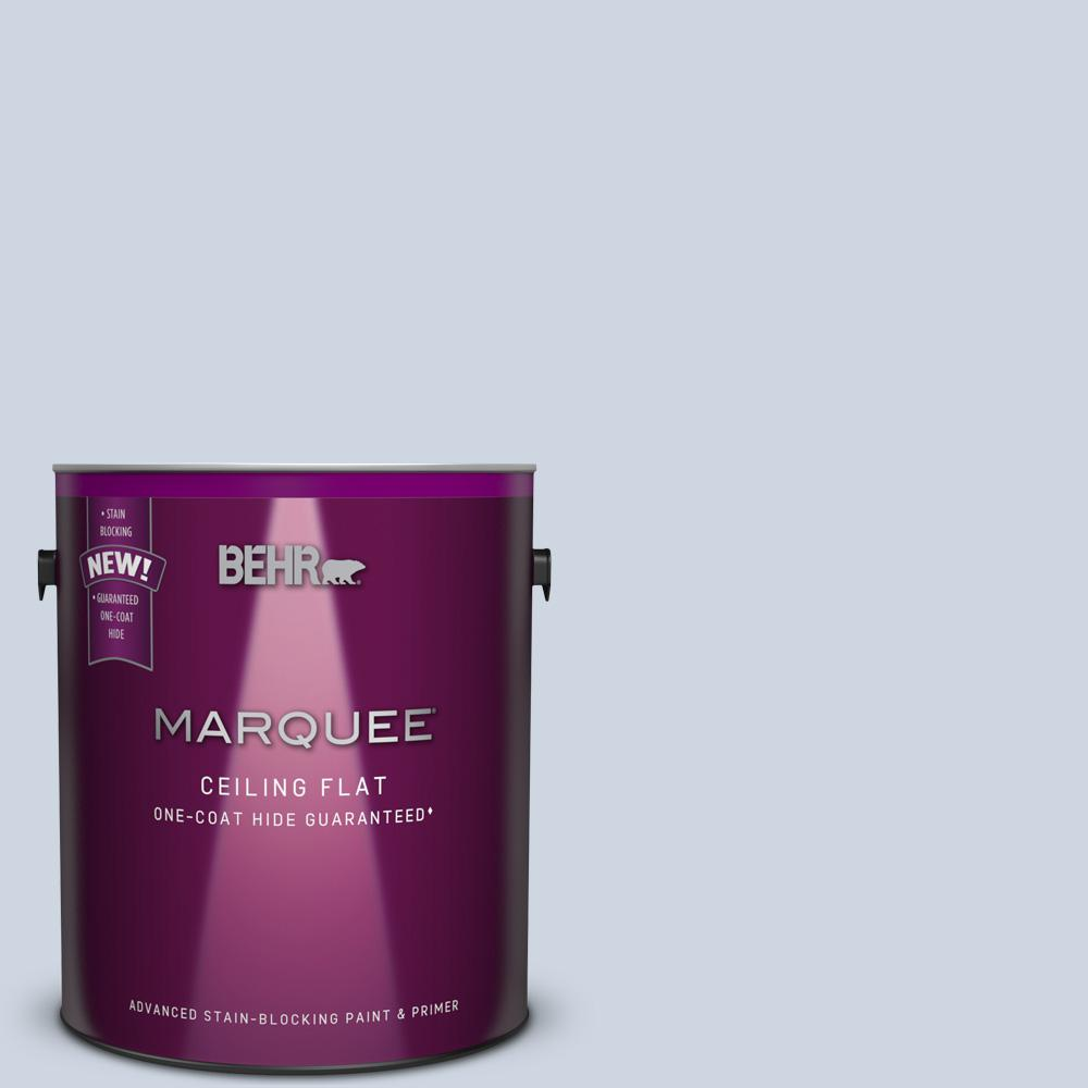 1 gal. #MQ3-60 Tinted to Blue Gossamer Flat Interior Ceiling Paint