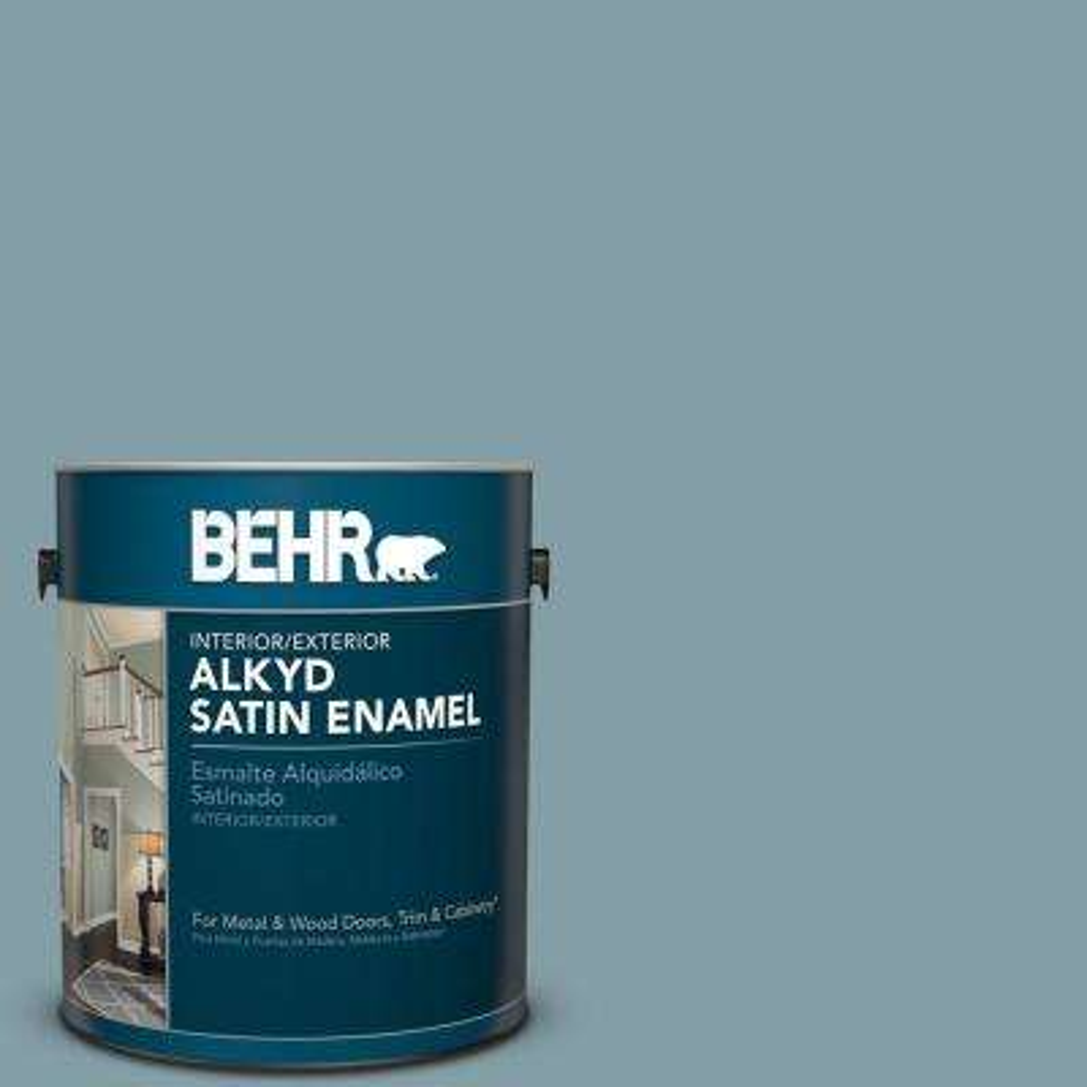 Bnc 18 Aqua Gray Satin Enamel Alkyd Interior Exterior Paint