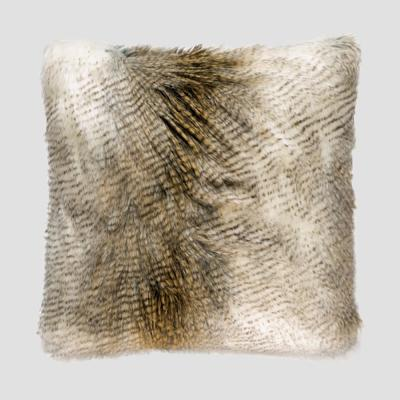 Alaskan Hawk Multicolored Solid Down 20 in. x 20 in. Throw Pillow