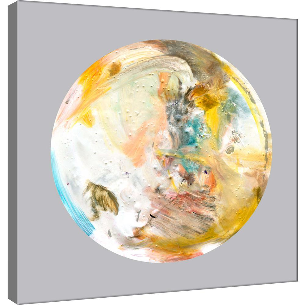 PTM Images 15.in x 15.in \'\'Painterly Circle on Grey A\'\' Printed ...