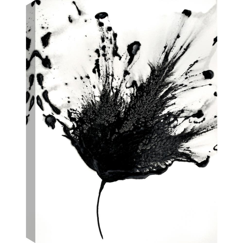 Artmaison Canada Black Flower I Floral Art Fresh Printed Canvas