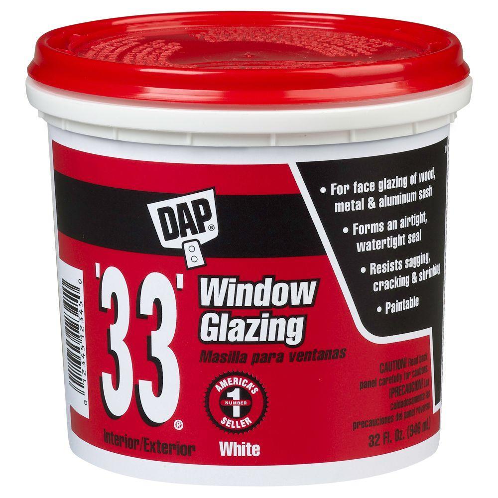 DAP 33 1-qt. White Window Glazing-12123 - The Home Depot