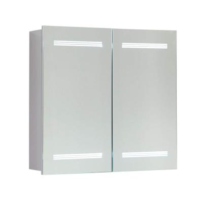 25 in. x 26 in. x 5.75 in. LED Lighted Surface Mount Medicine Cabinet in White