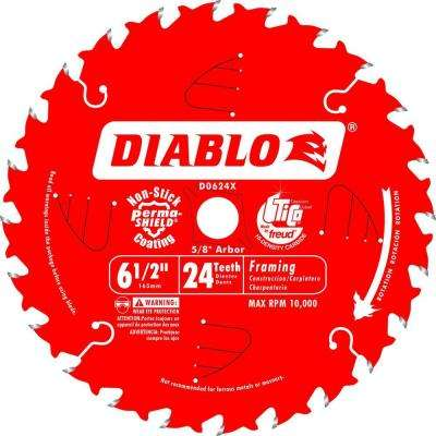 6-1/2 in. x 24-Tooth Framing Saw Blade