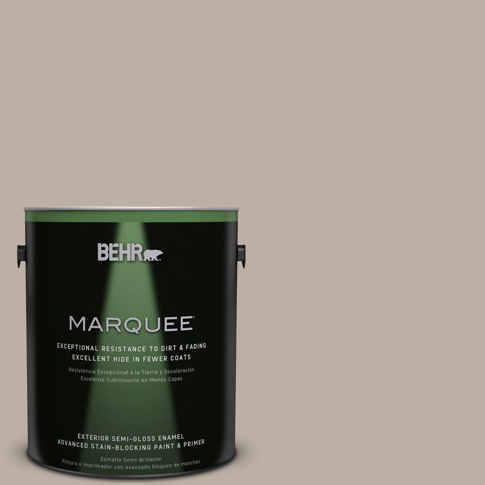 BEHR MARQUEE 1-gal. #N210-3 Barista Semi-Gloss Enamel Exterior Paint