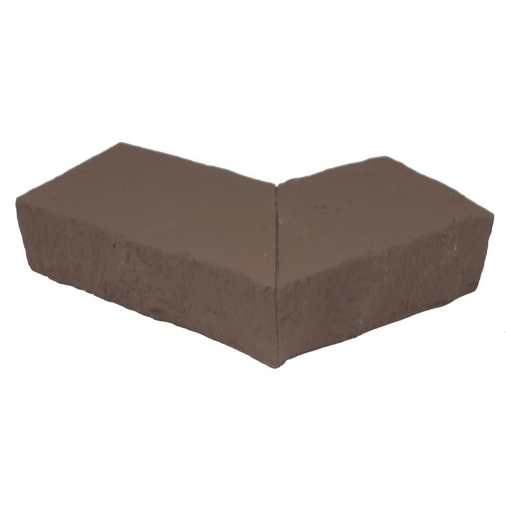 Sandstone Brown 4.25 in. x 6.25 in. Faux Stone Ledger Outside Corner (2-Pack)