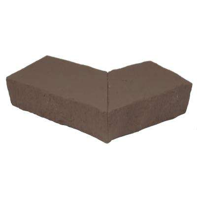 Sandstone Brown 4.25 in. x 6.25 in. Faux Stone Ledger Outside Corner (2-Pack)