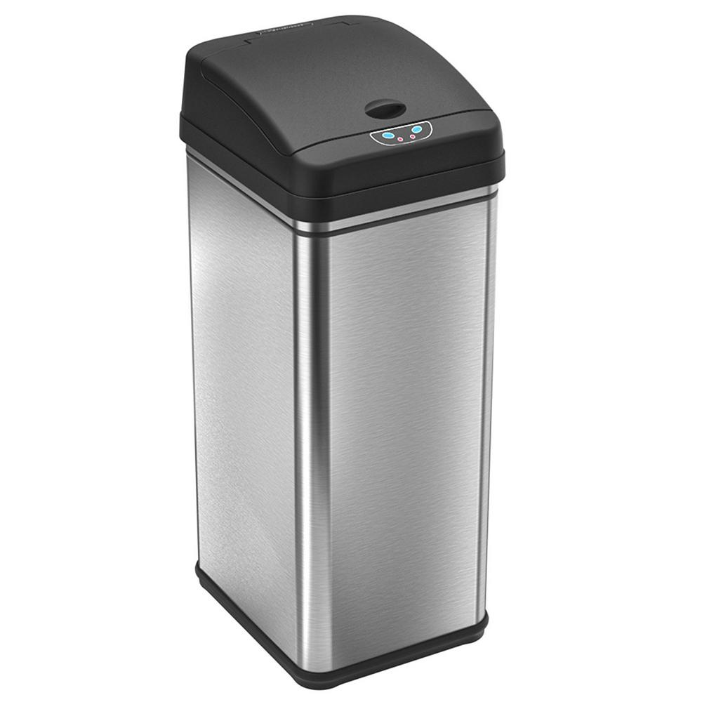 garbage cans tips you absolutely have to do. Stainless Steel Motion Sensing Touchless Trash Can With Deodorizing Carbon Filter Technology Garbage Cans Tips You Absolutely Have To Do