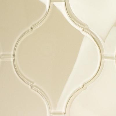 Evermore 8 in. x 10.25 in. x 8mm Beige Arabesque Glass Wall Tile (3 pieces / 1.05 sq. ft. / case)