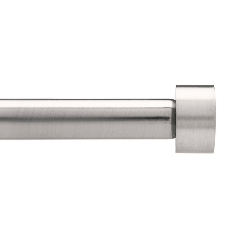 Umbra Cappa 3/4 in. Dia Single Rod 36 in. - 72 in. in Nickel/Steel ...
