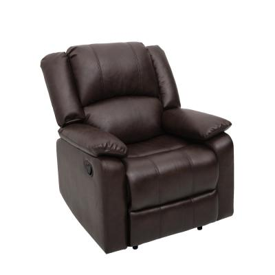 Porter Dark Brown Faux Leather Lounger Recliner