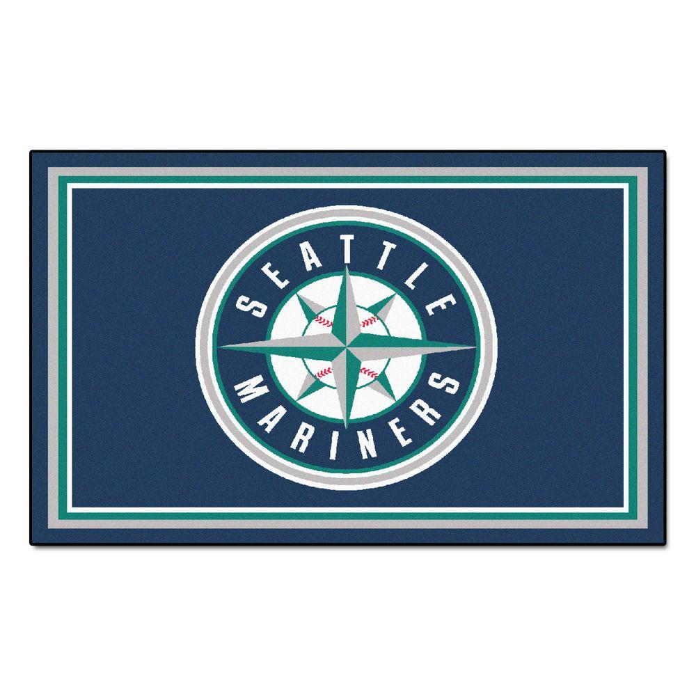 Fanmats Seattle Mariners 4 Ft X 6 Ft Area Rug 7083 The