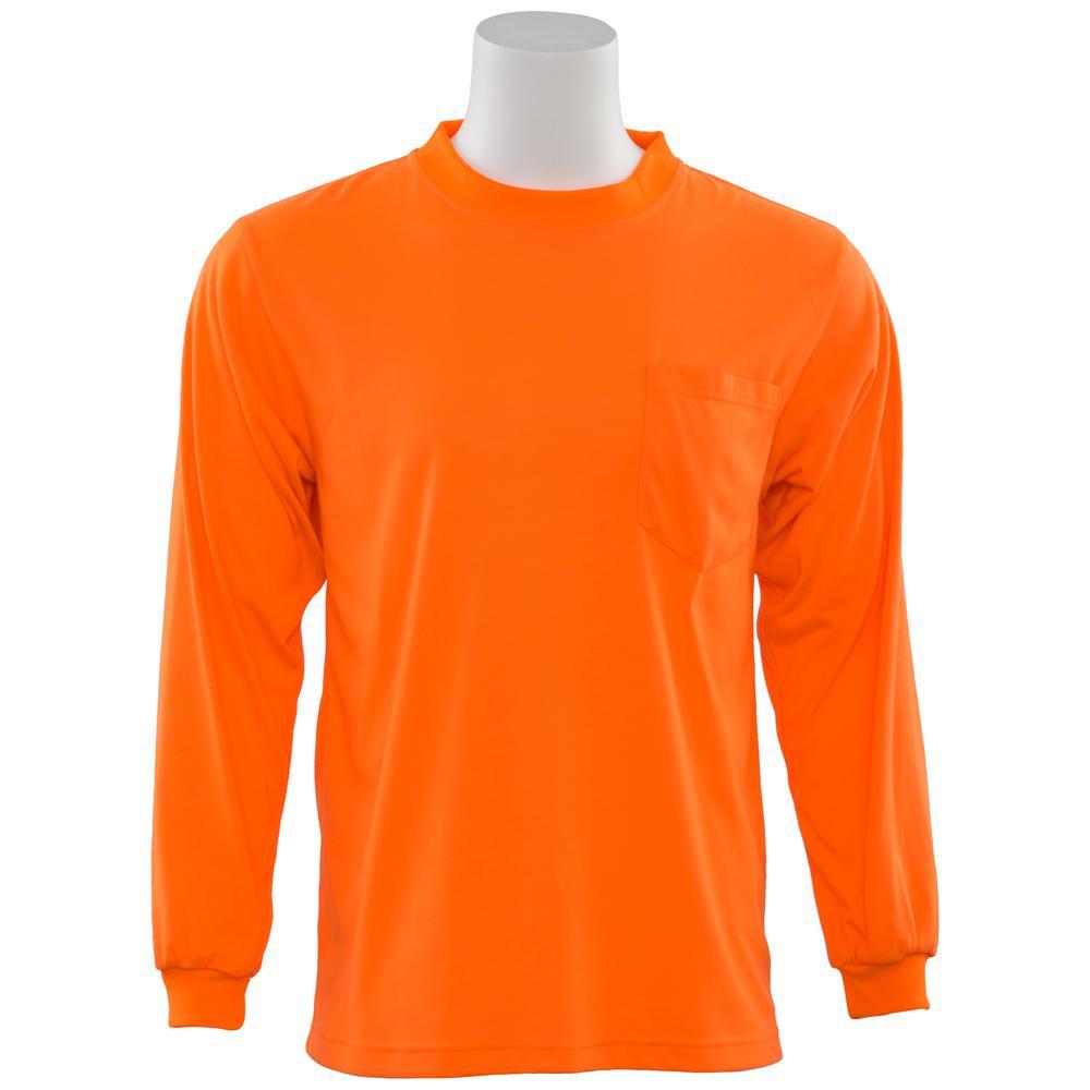 ERB 9602 L Non-ANSI Short Sleeve Hi Viz Orange Unisex Poly Jersey T-Shirt