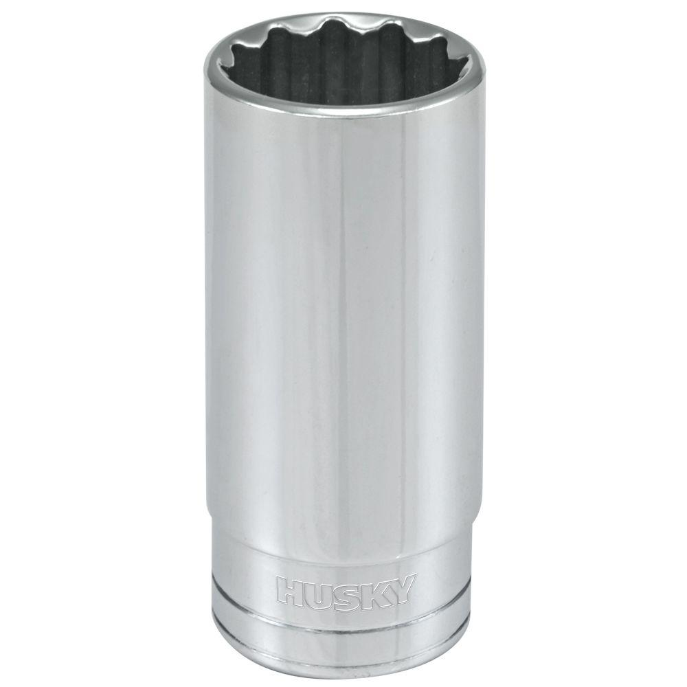 Husky 1/2 in. Drive 1 in. 12-Point SAE Deep Socket