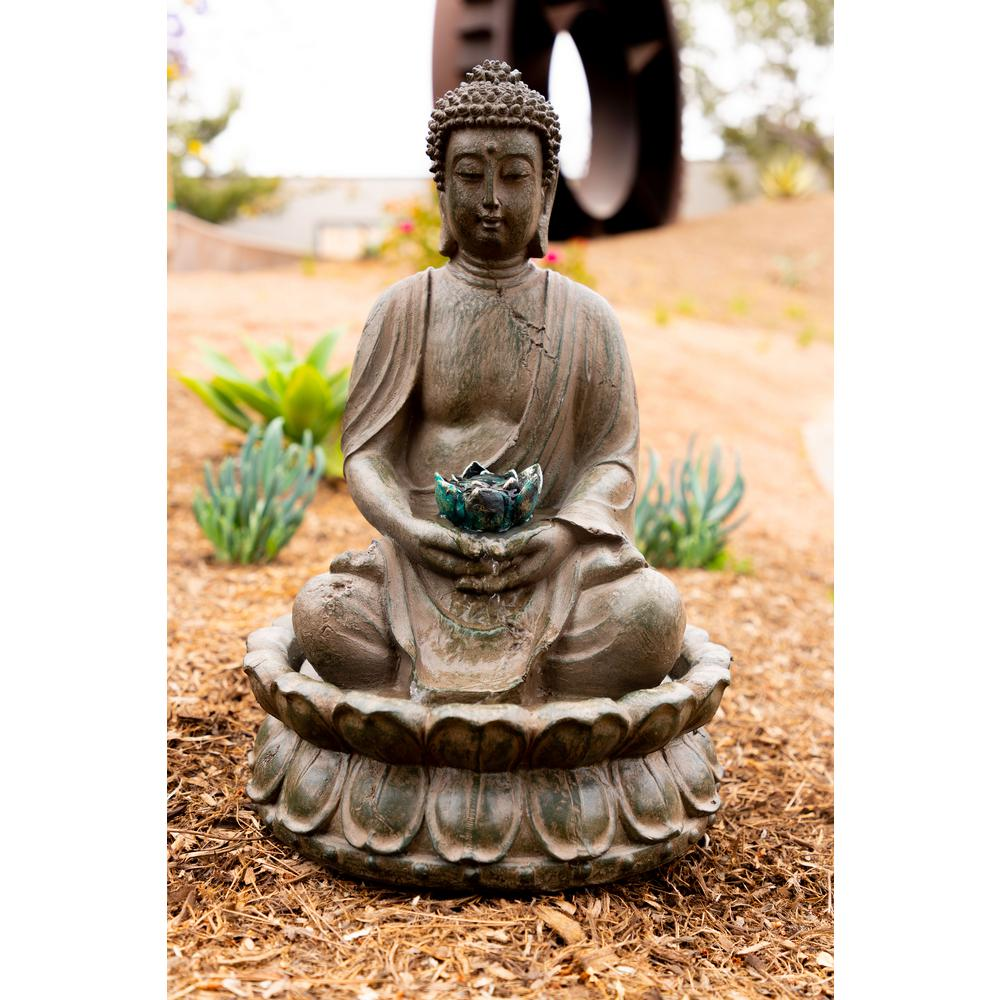 Alpine Corporation Alpine Corporation Meditating Buddha With Lotus