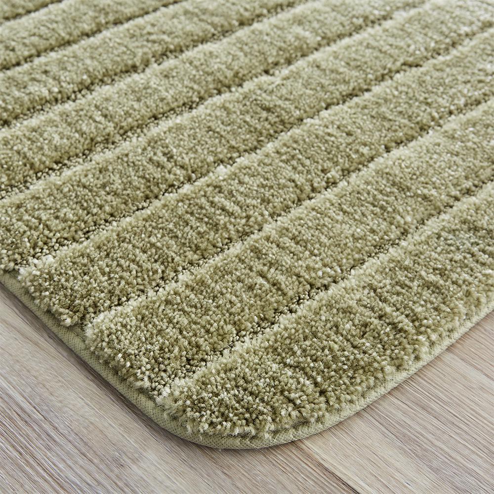 Olive Green 3 Piece Ultra Spa Bath Mat Bath mat,Contour rug Lid cover.