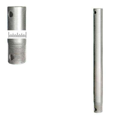 3/4D 12 in. Satin Steel Extension Downrod