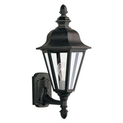 Brentwood 1-Light Outdoor Black Wall Mount Fixture
