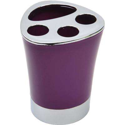 Bath Toothbrush and Toothpaste Holder Chrome Parts Purple