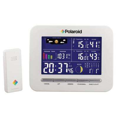 White Wireless Weather Station Clock