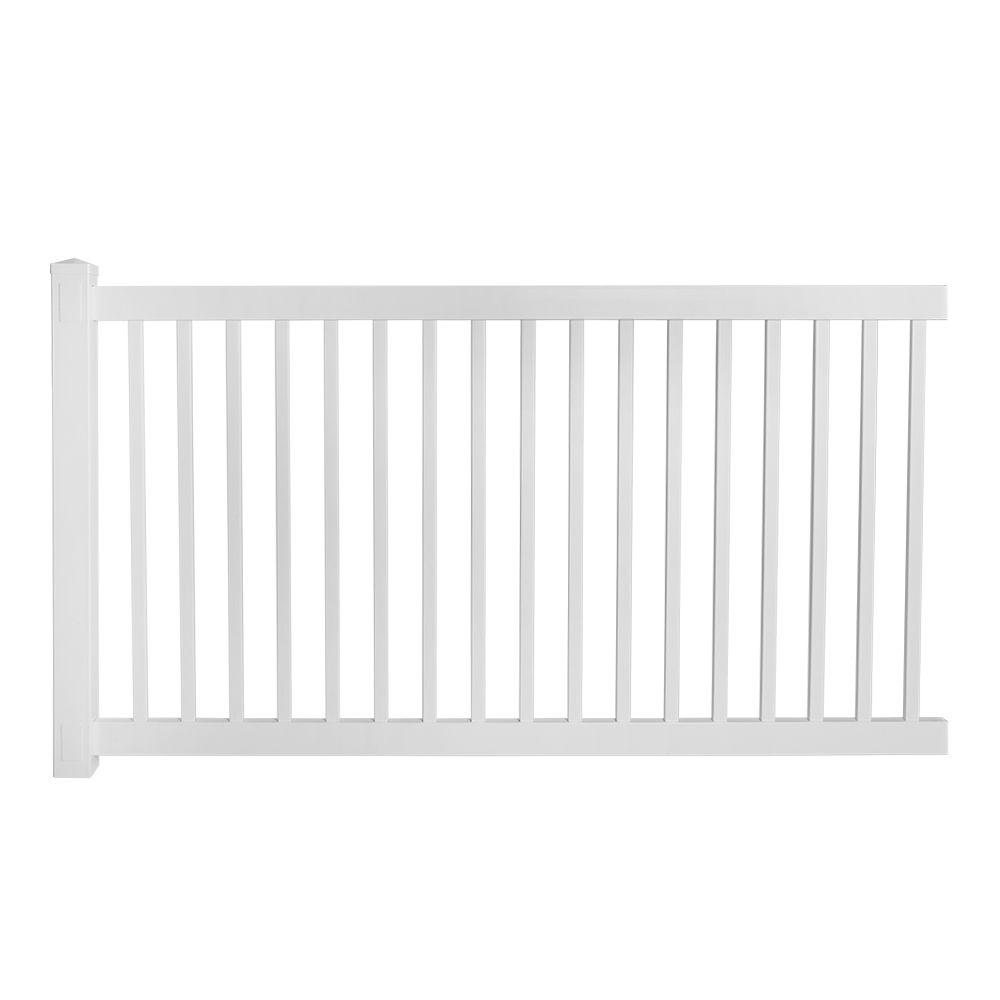 Weatherables Phoenix 4 Ft H X 8 Ft W Vinyl Pool Fence