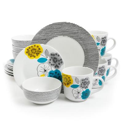 Marigold 16-Piece Rustic Ceramic Dinnerware Set (Service for 4)