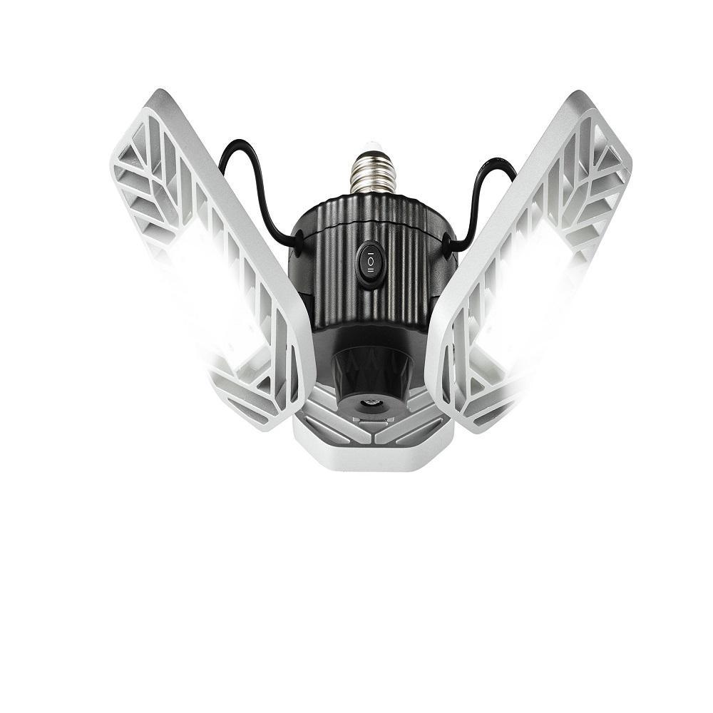 3500 Lumens 11.5 in. Single Pole Occupancy LED Flush Mount Garage Light