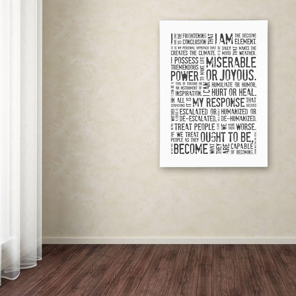 24 in. x 18 in. Decisive Elements II Canvas Art