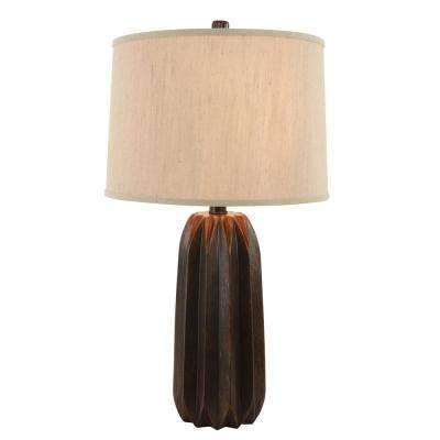 Acton 29.5 in. Brown Resin Table Lamp with Shade