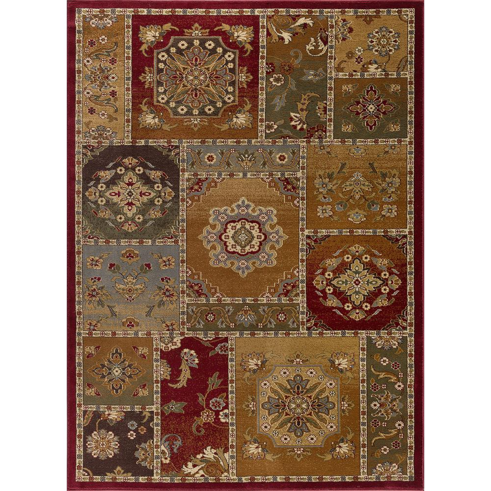 Tayse Rugs Impressions Multi Color 9 Ft X 13 Ft Area Rug