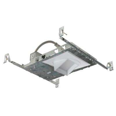 NICOR 5 in. White (3000K) LED Recessed Adjustable Square Downlight Kit with Housing, Trim, and LED Module