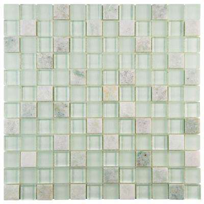 Tessera Square Ming 11-5/8 in. x 11-5/8 in. x 8 mm Glass and Stone Mosaic Tile