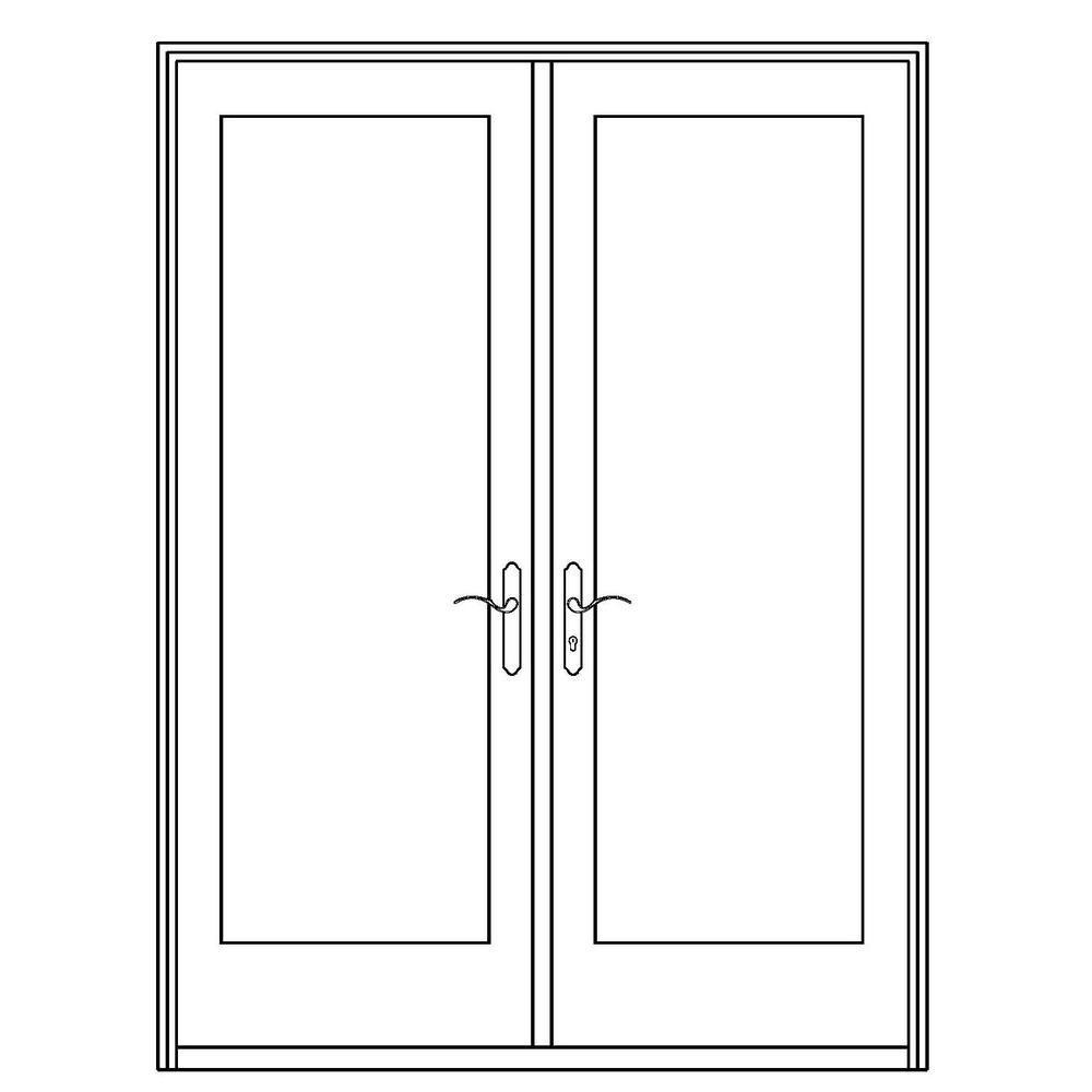 Ordinaire 72 In. X 80 In. Professional Series White Aluminum/ Pre Primed Interior