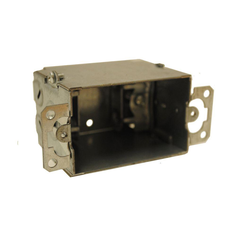 3-1/2 in. Deep Gangable Switch Box - Silver (5-Pack)