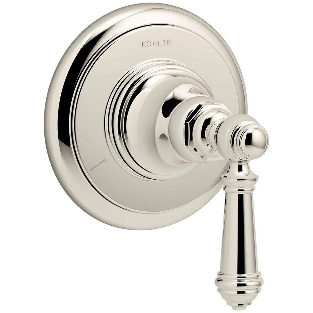 Artifacts Lever 1-Handle Transfer Valve Trim Kit in Vibrant Polished Nickel