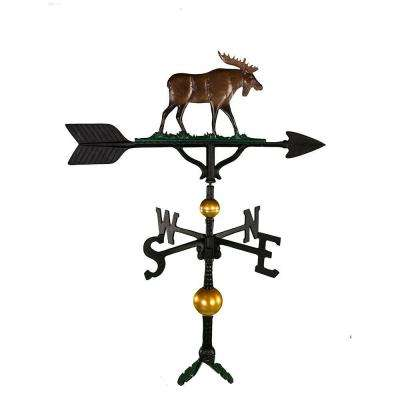 32 in. Deluxe Black Moose Weathervane