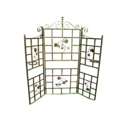 Mississippi 71 in. Tubular Steel Patio Screen Trellis