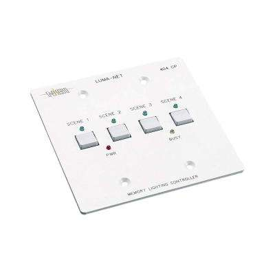 Luma-Net Remote Memory Control Panel with 4 Programmable Scenes, White