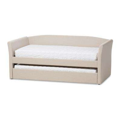 Camino Contemporary Beige Fabric Upholstered Twin Size Daybed