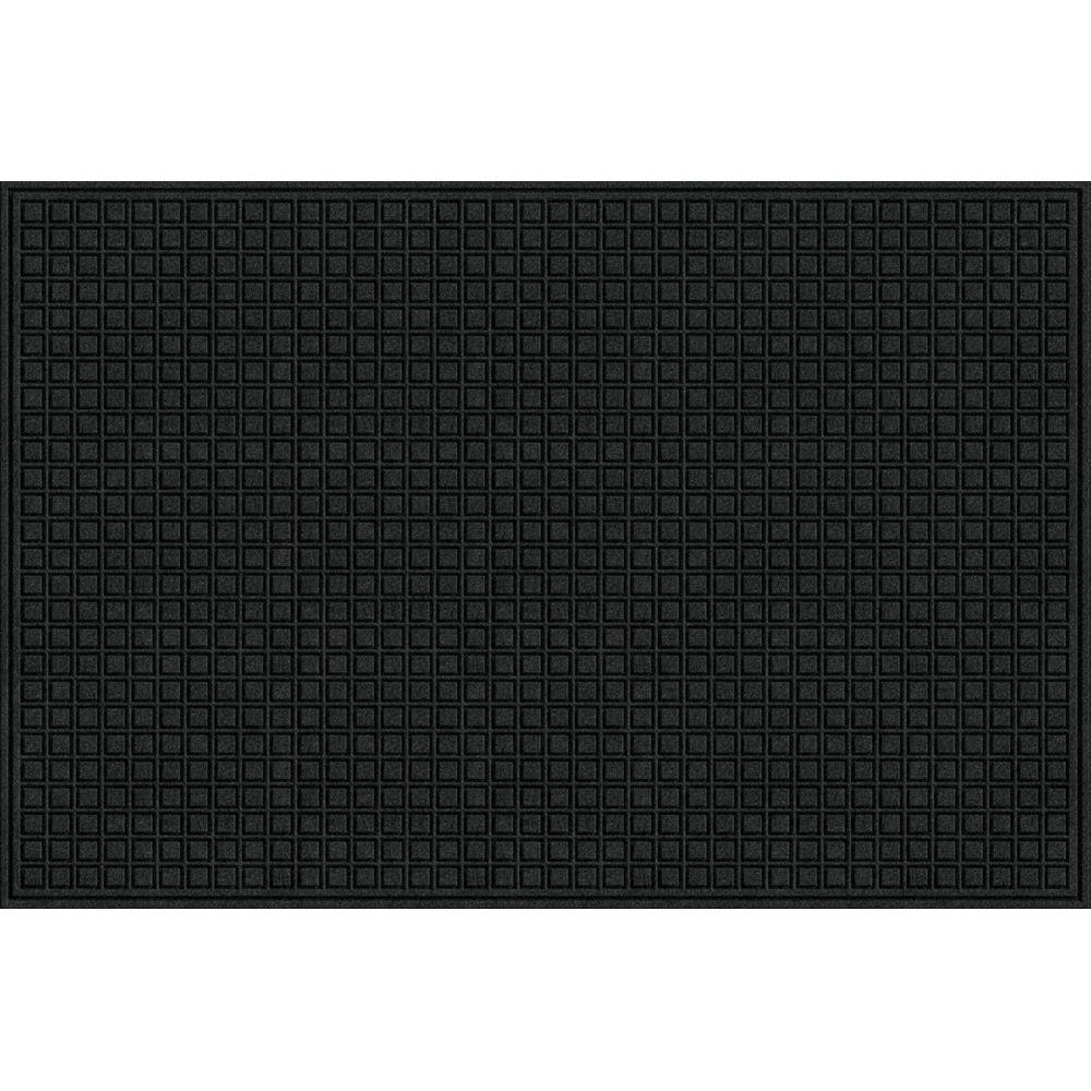 TrafficMASTER Black 48 in. x 72 in. Synthetic Fiber and Recycled Rubber Commercial Door Mat
