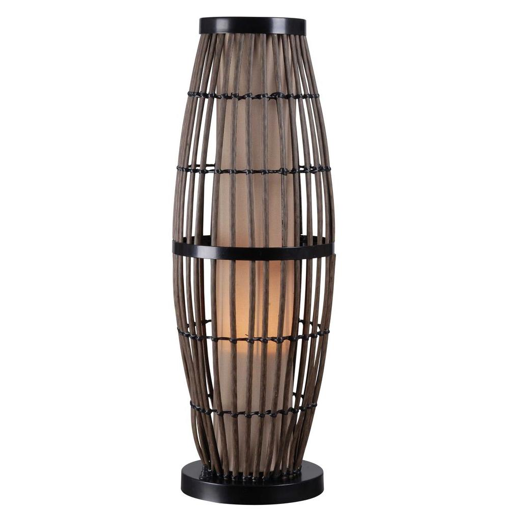 Kenroy home biscayne 31 in rattan outdoor table lamp 32247rat the rattan outdoor table lamp aloadofball Images