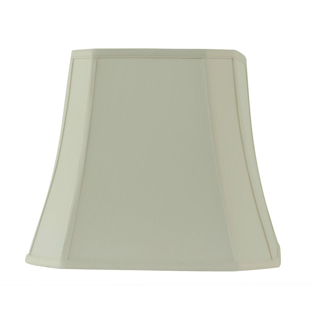 Rembrandt 16 in w x 14 in h creme linen square bell lamp shade 13 h creme linen square bell lamp shade aloadofball Image collections