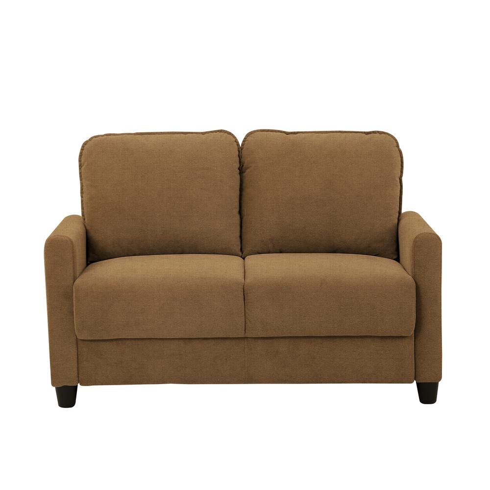 Shelby Microfiber Loveseat with Storage in Taupe