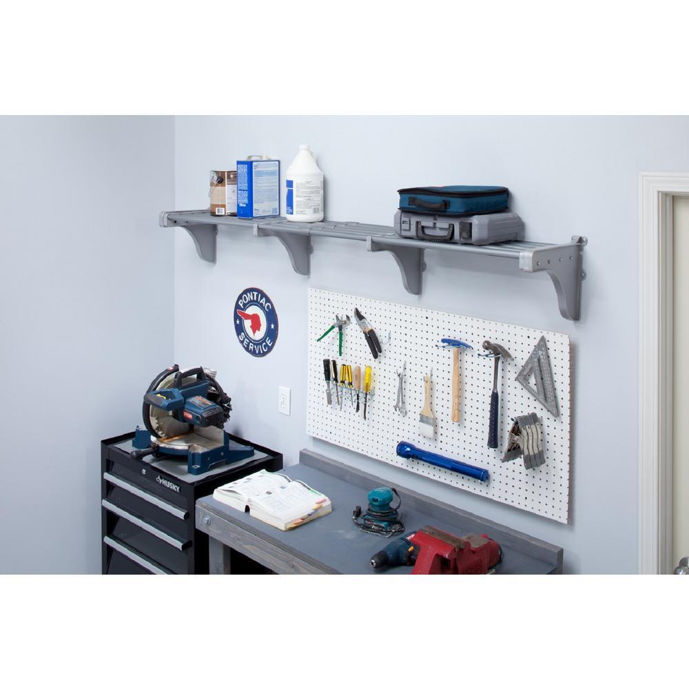 Ez Shelf 40 In 75 In Metal Expandable Garage Shelf In