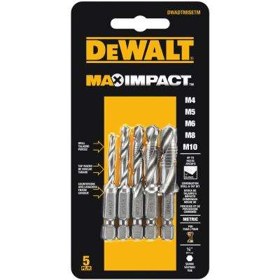 Max Impact Metric Drill Tap Set (5-Piece)