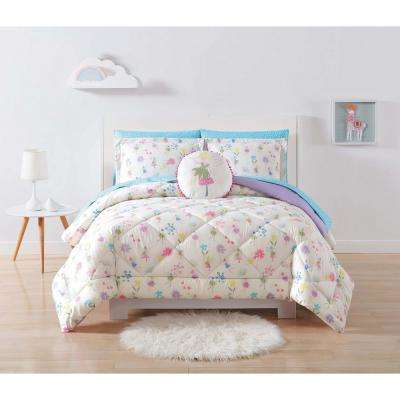 Kids Garden Fairies Full/Queen Comforter Set